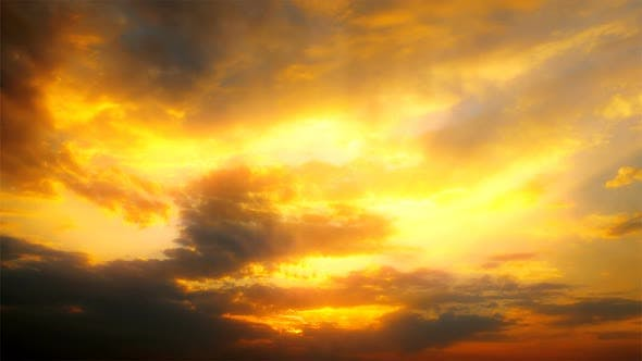 Thumbnail for Sky and clouds at sunset background