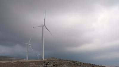 Windmills With Storm Clouds in the Background