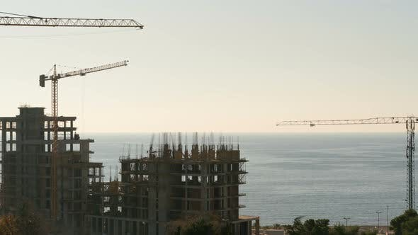 One Day From Building Construction By the Sea