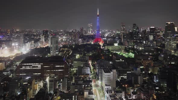 Thumbnail for Time Lapse of the amazing Tokyo skyline at night