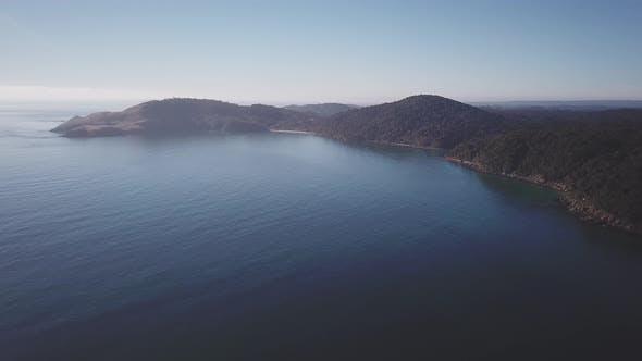Steward Island Aerial view