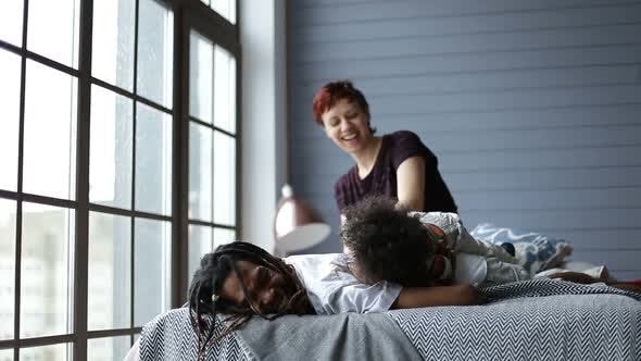Thumbnail for Happy Interracial Family Spending Leisure at Home