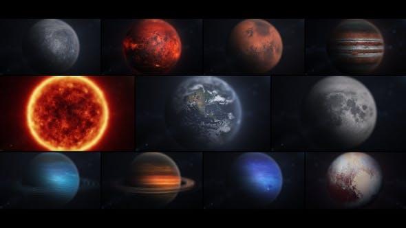 Solar System In Macro