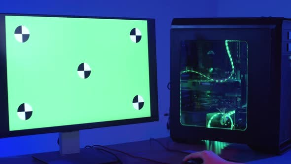 Gamer Sitting at Computer and Streaming