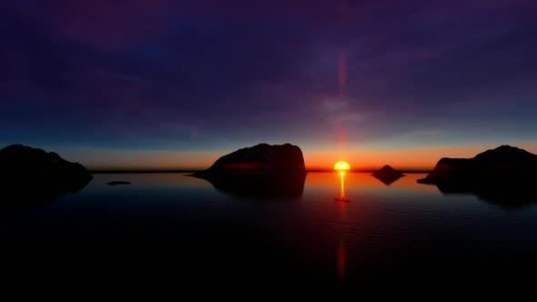 Thumbnail for Sunset View on the Rocky Island Lake