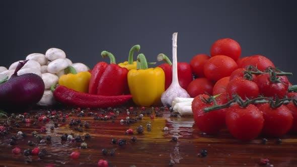 Vegetables Rain