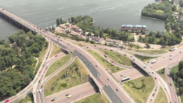 Cover Image for Automobile Transport Interchange in Kyiv. Ukraine. Aerial