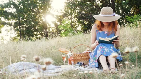 Thumbnail for Girl With Book On A Picnic 3