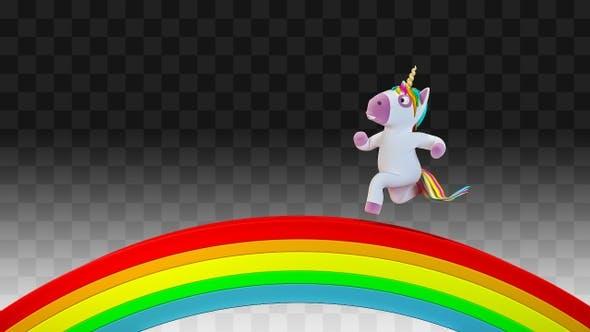 Unicorn runs on the rainbow