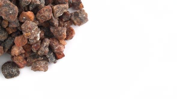 Thumbnail for Circle Shaped Kala Namak Salt Crystals Pile Rotating