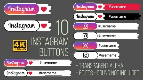 Instagram Buttons 4K
