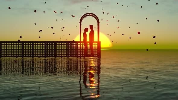 Thumbnail for sonnenuntergang landschaft mit valentines leben in der liebe