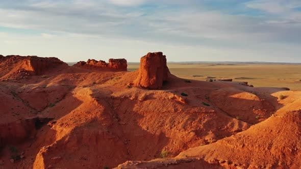 Thumbnail for Aerial View of Bayanzag Flaming Cliffs in Mongolia