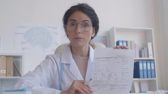 Thumbnail for Online Doctor Explaining How to Fill in Form