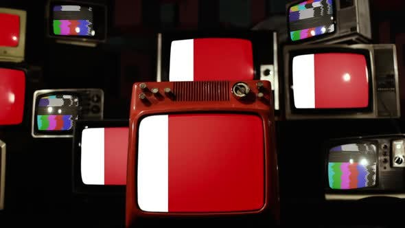 Flag of Ajman and Retro TVs.