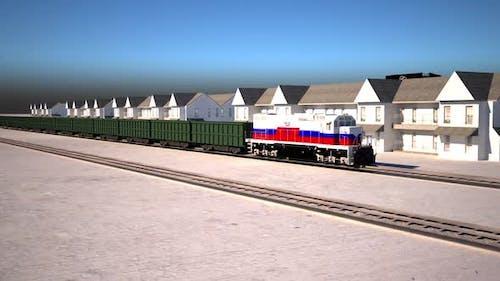 Train animation, Logistics.