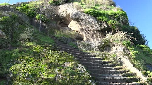 Historic Stone Rock Staircase