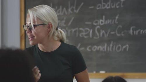 Teacher Using Flip Chart