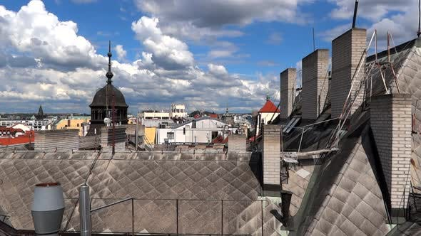 Thumbnail for Prague City - Old Roofs and Fast Clouds - 01