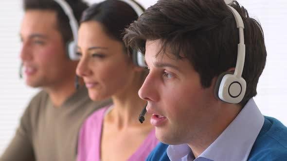 Thumbnail for Multi ethnic group of customer service representatives