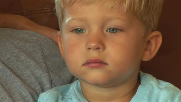 Thumbnail for Face of young toddler boy
