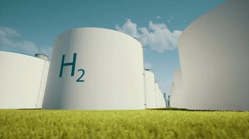 H2 Hydrogen Energy Business Technology Industry Concept Energy Storage System Sustainable Ecological