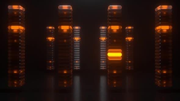 Glowing Pillars