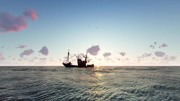 Cover Image for Fish Boat Sunrise