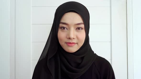 Portrait of A Young Asian Muslim Woman 01