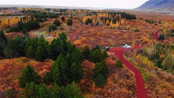 Thumbnail for Colorful Autumn Landscape in National Park Thingvellir, Iceland