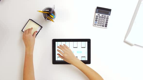 Thumbnail for Woman with Tablet Pc Working on Interface Design 12