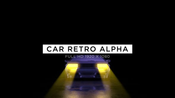 Thumbnail for Car Alpha Retro Trip Vj Loops Background