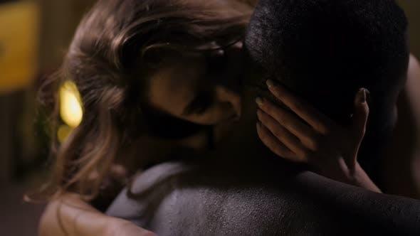 Thumbnail for Closeup of Diverse Passionate Couple Having Sex