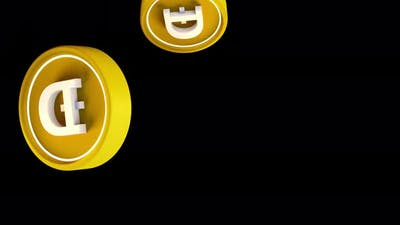 Dogecoin doge Cryptocurrency Crypto DeFi Coin 3d rendering animation