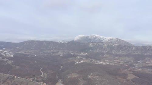 Stol mountain top under snow  4K aerial video