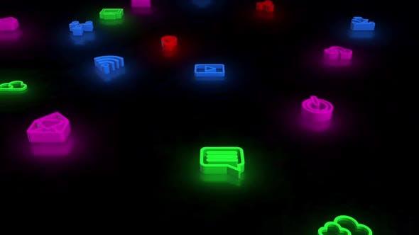 Thumbnail for Soziale Ikone Neon 02 Hd