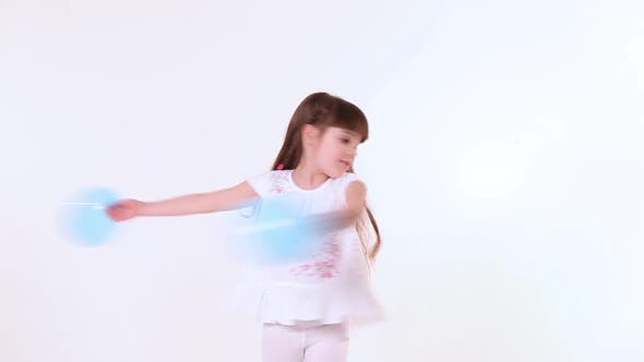 Cover Image for Happy Child Girl Dancing