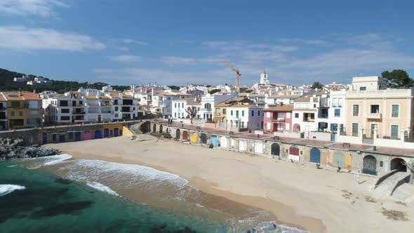 Thumbnail for Drone Aerial Above Fishing Village In Spain