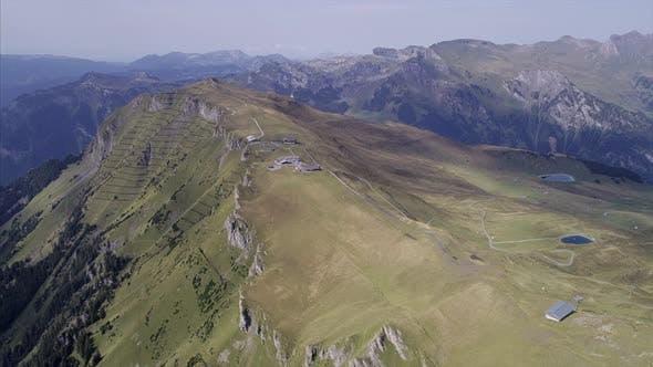 Aerial of Grindelwald Canton of Berne Switzerland