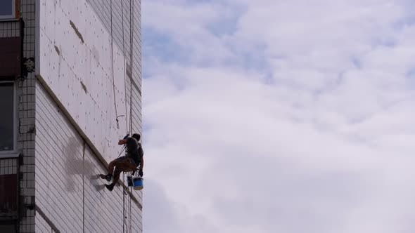 Thumbnail for Industrial Climber Insulation of Facade Old High-Rise Building Using Styrofoam