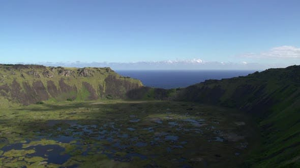 Thumbnail for Rano Kau Volcano Time Lapse with Cloud Shadows
