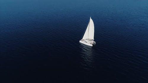 Boat Floating In Ocean