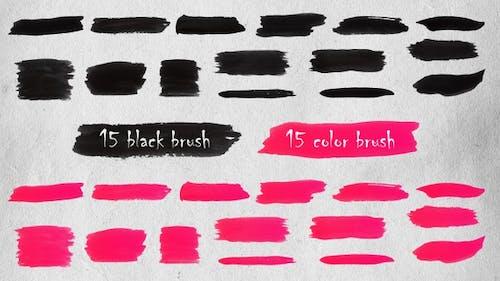 Brush Strokes Elements