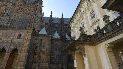 St. Vitus Cathedral next to Old Royal Palace