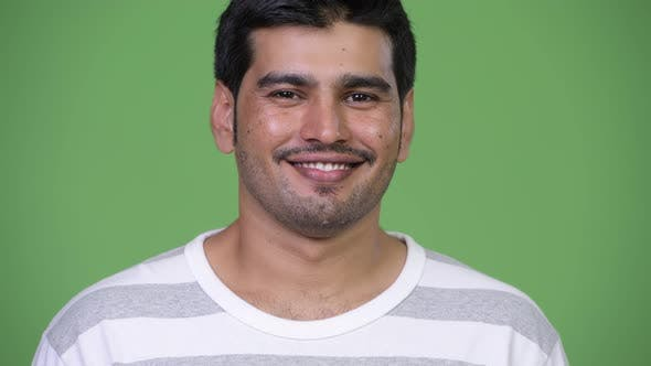 Young Handsome Persian Man Smiling