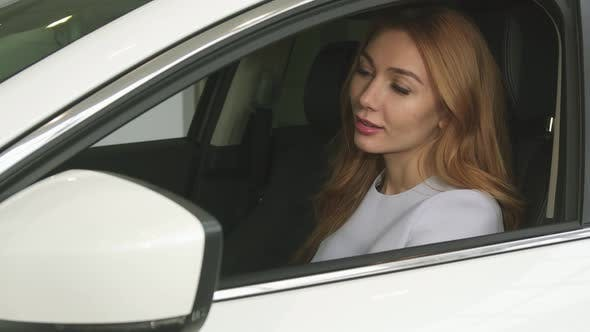 Thumbnail for Gorgeous Happy Woman Showing Car Keys To Her Newly Bought Auto