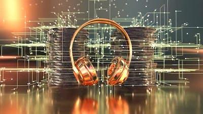3D concept of a futuristic music concept