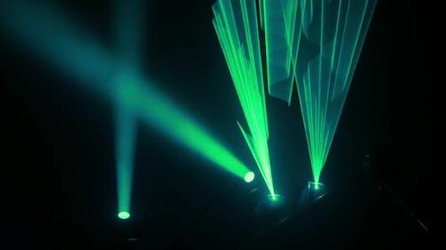 Licht Konzertshow Effekte Animation Bühnenstrahl Zusammenfassung