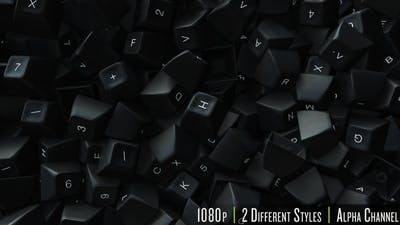 Computer Keyboard Keys Fill Screen