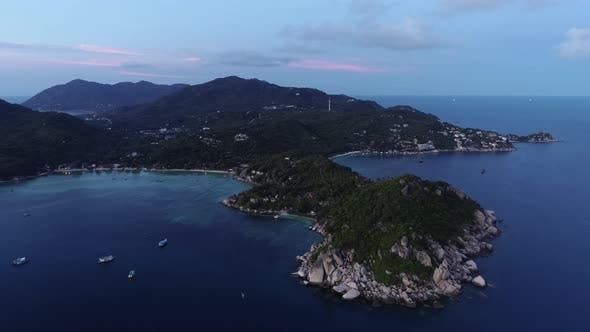 Thumbnail for Evening Aerial view of  Koh Tao Thailand
